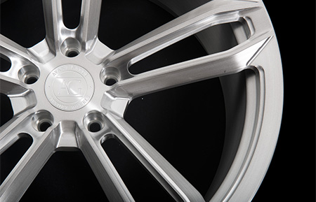 agl27 monoblock concave forged wheels brushed stainless gunmetal