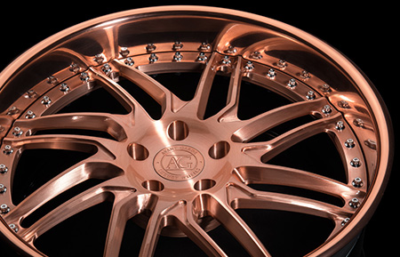 agl28 brushed rose gold forged directional wheels