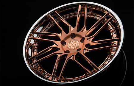 agl28 spec3 concave forged directional wheels polished rose gold chrome lip
