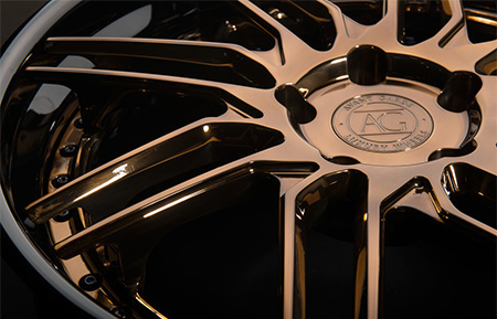 agl28 spec3 concave forged wheels polished liquid bronze gloss black lip