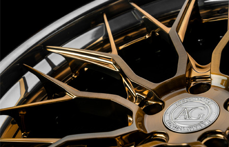 agwheels wheel rim rims avant garde agluxury luxury agl43 forged spec3 three piece threepiece 3piece 3 concave mesh wheels brushed liquid bronze chrome lip