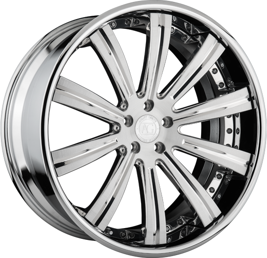 agl11 white rolls royce wraith 22 inch 22in forged monoblock concave staggered wheels brushed polished rims
