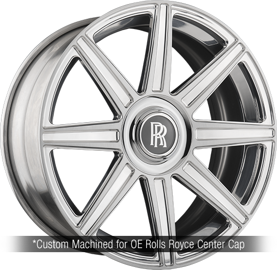 agl22 white rolls royce wraith 24 inch 24in forged concave staggered brushed polished wheels duo block 8 spoke rims